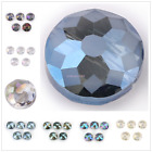 New 2 Style Frosted Glass Bead Faceted Crystal Beads Making Findings 14mm 18mm