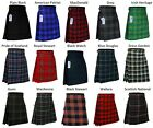 Men's Scottish Kilts Tartan Kilt 13 oz Highland Casual Kilt 15 Tartans