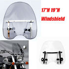 "19""17"" Windshield For Harley Davidson Touring Sportster VRXSE Road Softail Dyna $48.99 USD on eBay"