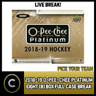 2018-19 O-PEE-CHEE PLATINUM HOCKEY 8 BOX (CASE) BREAK #H359 - PICK YOUR TEAM - $66.0 CAD on eBay