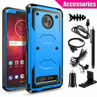 For Motorola Moto Z3/Z3 Play Hybrid Phone Case + Tempered Glass With Accessories