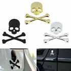 1x Cool Car Truck 3D Metal Skull Head Bone Logo Modified Emblem Sticker Decal $3.41 CAD on eBay