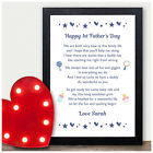 Personalised Happy First 1st Fathers Day Poem Gifts for Daddy from Baby Girl Boy