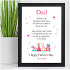 PERSONALISED Fathers Day Dad Daddy Gifts from Daughter Little Girl Baby Girl