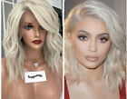 9A Bob Short Full Lace Human Hair Wigs White Blonde Lace Front Wig Pre Plucked