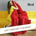 Soft Wool Thick Large Warm Knitted Blanket Line Yarn Handmade Throws Bed Sofa image