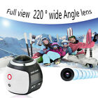 Multifunction 4K 360 Degree Panoramic Camera HD Wifi Video Sports Action DV Cam