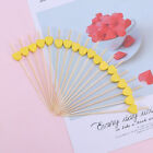 100Pcs Bamboo Fruit Picks Disposable Sticks for Birthday Cocktail Party