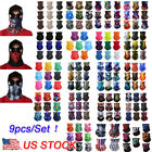Kyпить 9PCS/Set Face Mask Sun Shield Neck Gaiter Balaclava Neckerchief Bandana Headband на еВаy.соm