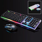 Keyboard / Mouse Combo For PS4/PS3/Xbox One Gaming Rainbow LED Keyboard Mice LOT