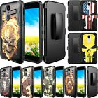 For Nokia 3.1 PLUS Phone Case Tactical Holster Clip Combo Kickstand Cover