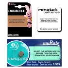 4 x Genuine DURACELL & SONY Silver Oxide Button Cell Watch Batteries [All Sizes]