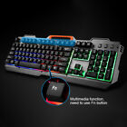 Keyboard and 1600DPI Mouse Set USB Wired Gaming Mechanical White Silver Backlit
