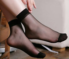 Breathable Ankle Short Socks Invisible Womens Summer Silk Sock Free Size