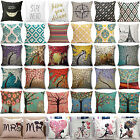 Square Linen Cotton Cushion Cover Pillow Cases Sofa Throw Home Bed Decoration Us