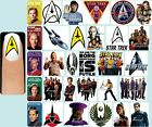 60x STAR TREK Nail Art Decals + Free Gems Voyager Enterprise Logo Insignia Borg on eBay