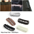 50 Quality Snap Clips for Wig/Hair Extension Weft Metal U-Shape Pin 5 Color DIY