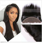 8A Free Part Lace Frontal Closure 13x2 Peruvian Straight Human Hair Ear To Ear