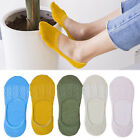 1 Pair Cotton No Show Socks for Women Non-slip Invisible Flat Boat Line Socks