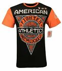AMERICAN FIGHTER Mens T-Shirt GROVE ART  Athletic Premium Biker Gym MMA 3 $58 image
