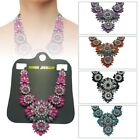 Rhinestone Crystal Flower Choker Collar Chunky Statement Bib Necklace Jewelry Uk