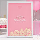 PERSONALISED  Christening Guest Book Alternative Girl - Heart Drop Box Guestbook