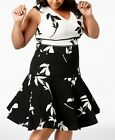 Taylor by Danny & Nicole NEW  Plus Size Colorblocked Floral Fit & Flare Dress