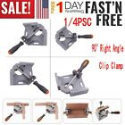1/4PS 90 Corner Right Angle Clamp Woodworking Vice Wood Metal Welding Gusset US