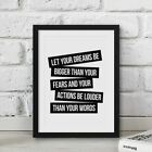 Inspirational Prints, Motivational Posters, Funny Framed Wall Art Quote A3/A4/A5