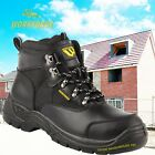 Super Hiker Style Black Safety Boots WF41 work boots steel toecap UK sizes 6-12