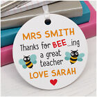 Personalised Best Teacher Assistant Nursery Childminder Bumble Bee Plaque Gift