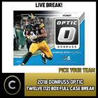 2018 DONRUSS OPTIC FOOTBALL 12 BOX (FULL CASE) BREAK #F206 - PICK YOUR TEAM -