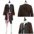 Pirates of The Caribbean Jack Sparrow Cosplay Halloween Costume Outfit Full Set