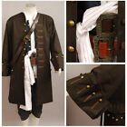 Pirates Of The Caribbean Jack Sparrow Halloween COSplay Costume Outfit Halloween