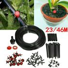 23~46M DIY/Auto Micro Drip Irrigation Kit Garden Greenhouse Self Watering Hose A