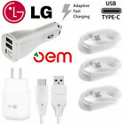 OEM Fast Charging Wall Charger Type C Cable Cord For LG G5 G6 G7 Stylo 4 V20 lot