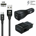 OEM Samsung Galaxy S10 S8 S9 Plus Fast Car Wall Charger 10 FT USB-C Type-C Cable