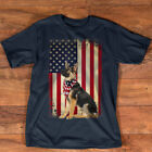 German Shepherd American Flag shirt Independence 4th of July