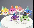 Baby Shark balloons and baby shark decorations table cover- banner- hats- bags