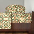 Floral Persian Arabic Traditional 100% Cotton Sateen Sheet Set by Roostery image