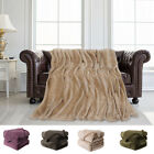Fuzzy Soft Waffle Fleece Bed Blanket Mesh Flannel Plush Blankets Twin Full Queen image