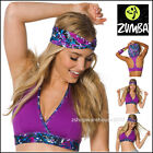 ZUMBA 2 Pce.SET! Mashed Up HOODED V-BRA and HEADBAND fr. Orlando Convention M L