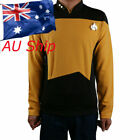 Star Trek Starfleet Command Shirt Uniform Cosplay Star Trek TNG Yellow Uniform on eBay