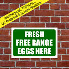 Free-range eggs sign 9026WGR
