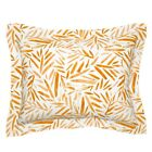 Leaves Watercolor Tropical Home Decor Upholstery Palm Pillow Sham by Roostery image