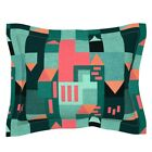 Bauhaus Movement Abstract Cubism Home Decor Geometric Pillow Sham by Roostery image