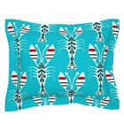 Animals Ocean Lobsters Beach Cottage Shellfish Cover Pillow Sham by Roostery image