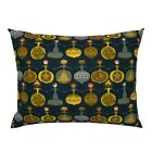 Retro Holiday Christmas Decor Ornaments Bauble Vintage Pillow Sham by Roostery image