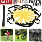 Внешний вид - 8/12Rung Football Speed Agility Training Ladder 13ft Flat Rung with Carrying Bag