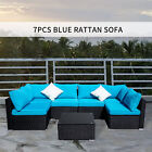 5pcs/7pcs Outdoor Table Sofa Set With Cushions Garden Pool Couch Furniture Sets